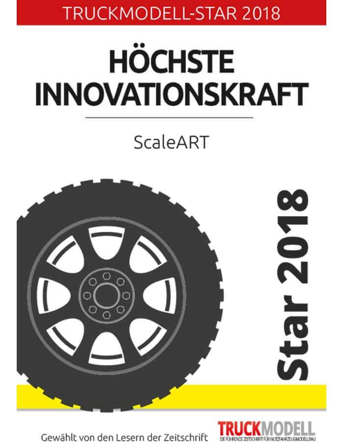 """Award: TruckModel-Star 2018 for """"Outstanding Innovation"""""""