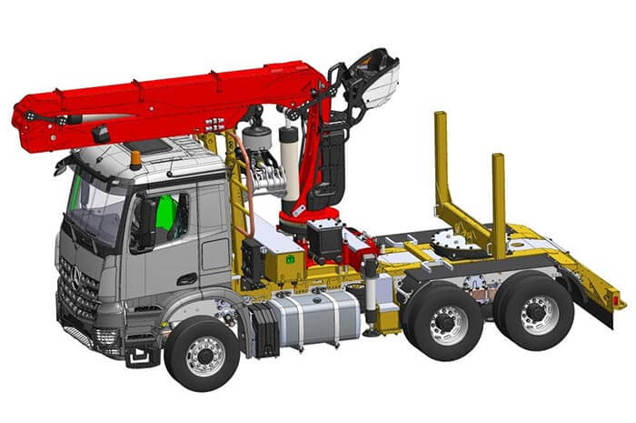 Timber truck by DOLL to be unveiled at Intermodellbau