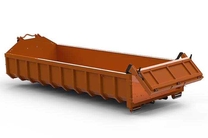 New closure for the flat roll-off trough