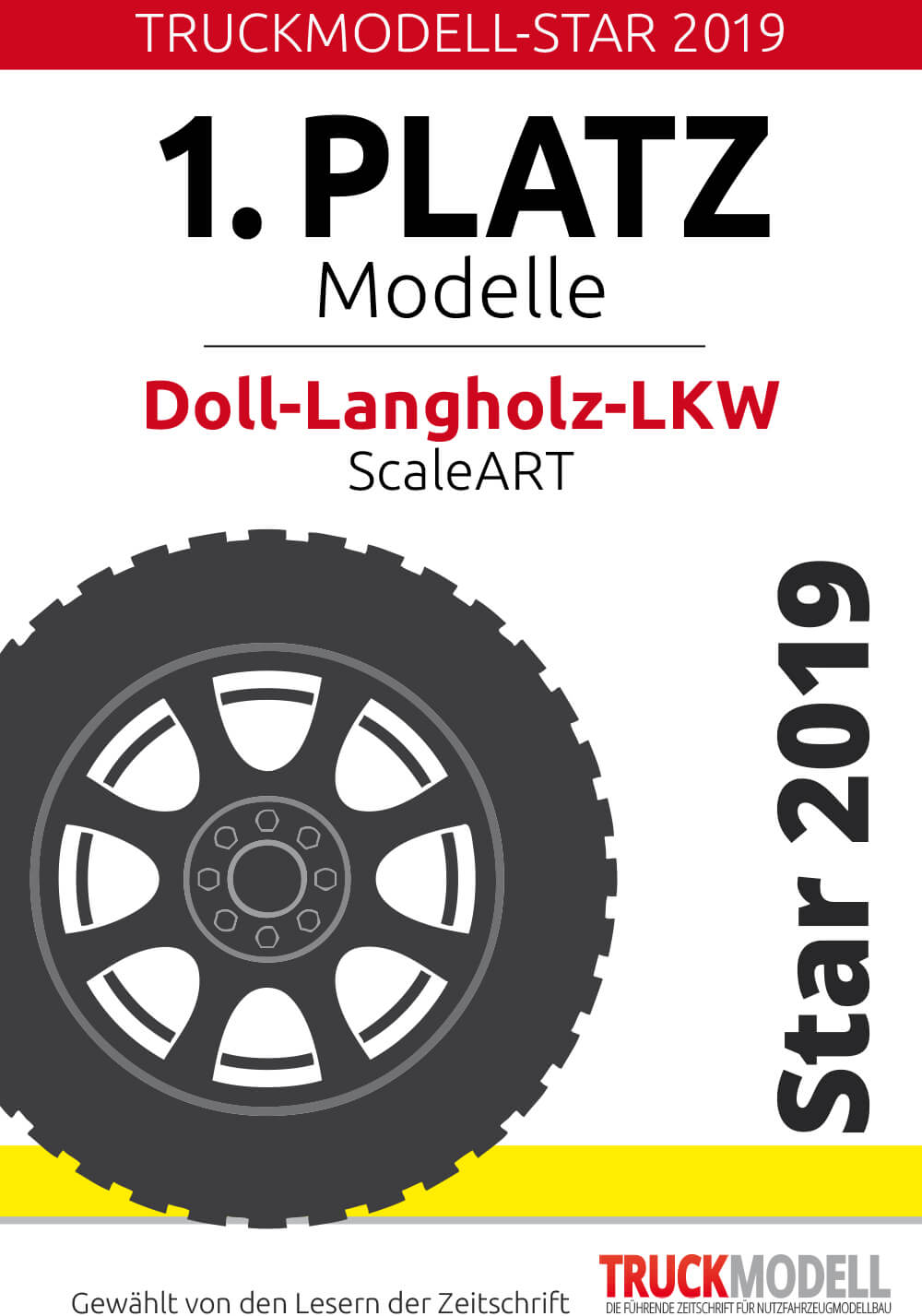 Auszeichnung: TruckModell-Star 2019 für Doll-Langholz-LKW
